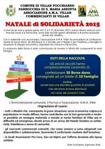 Esiti natale solidarietà 2015