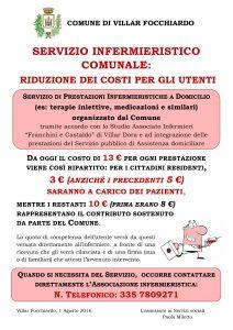 AVVISO SERVIZIO INFERMIERISTICO dal 1 Agosto